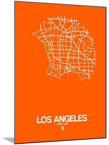Los Angeles Street Map Orange-NaxArt-Mounted Art Print