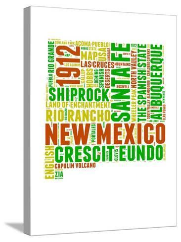 New Mexico Word Cloud Map-NaxArt-Stretched Canvas Print