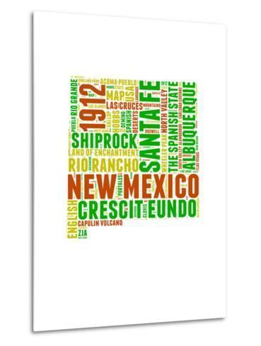 New Mexico Word Cloud Map-NaxArt-Metal Print