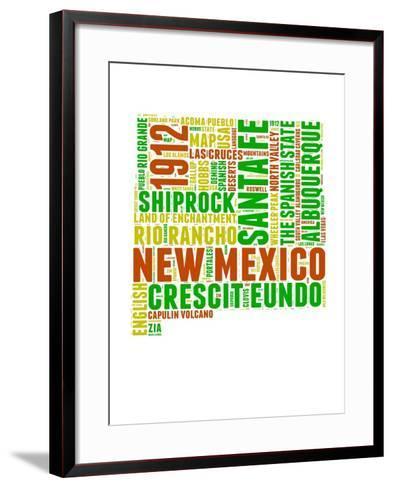 New Mexico Word Cloud Map-NaxArt-Framed Art Print
