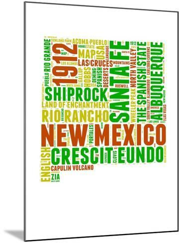 New Mexico Word Cloud Map-NaxArt-Mounted Art Print