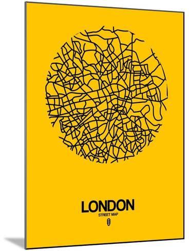 London Street Map Yellow-NaxArt-Mounted Art Print