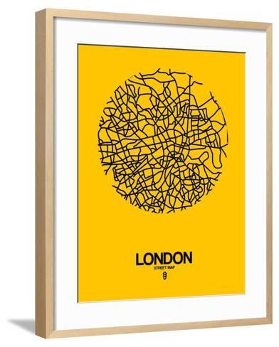 London Street Map Yellow-NaxArt-Framed Art Print