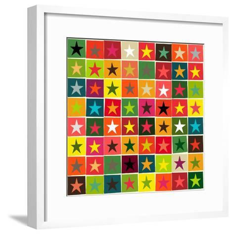 Christmas Boxed Stars-Sharon Turner-Framed Art Print