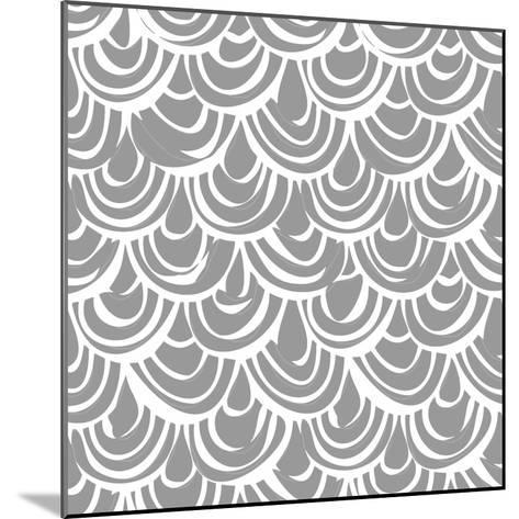 Monochrome Scallop Scales-Sharon Turner-Mounted Art Print