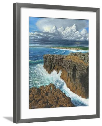 Atlantic Breakers Pontal Portugal-Richard Harpum-Framed Art Print