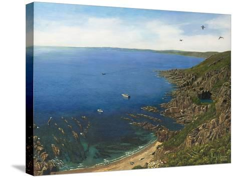 August Afternoon - Whitsand Bay from Rame Head Cornwall-Richard Harpum-Stretched Canvas Print