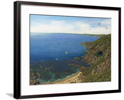 August Afternoon - Whitsand Bay from Rame Head Cornwall-Richard Harpum-Framed Art Print