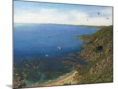 August Afternoon - Whitsand Bay from Rame Head Cornwall-Richard Harpum-Mounted Art Print