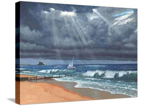 Raw - Storm over Lindisfarne-Richard Harpum-Stretched Canvas Print