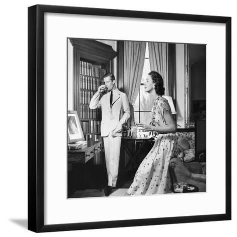 Vogue - May 1954-John Rawlings-Framed Art Print