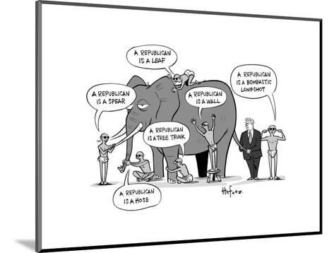 Blind Republicans - Cartoon-Kaamran Hafeez-Mounted Premium Giclee Print