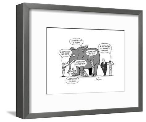 Blind Republicans - Cartoon-Kaamran Hafeez-Framed Art Print
