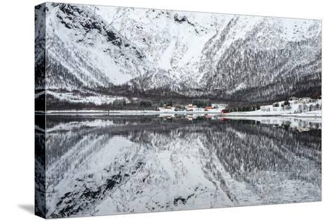 Reflection Lofoten-Philippe Sainte-Laudy-Stretched Canvas Print
