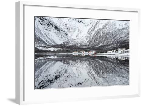 Reflection Lofoten-Philippe Sainte-Laudy-Framed Art Print