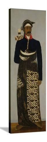 Javanese Court Official, C.1820-70-Javanese School -Stretched Canvas Print