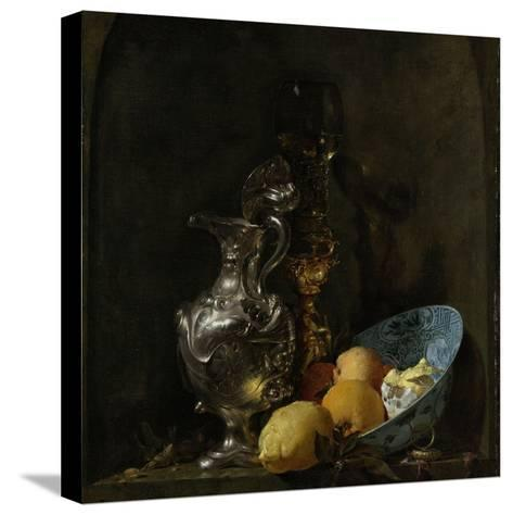 Still Life with Silver Ewer, 1655-60-Willem Kalf-Stretched Canvas Print