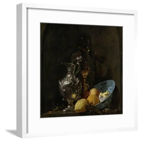 Still Life with Silver Ewer, 1655-60-Willem Kalf-Framed Art Print