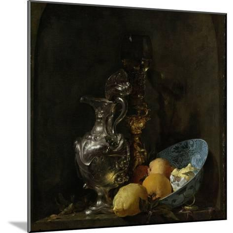 Still Life with Silver Ewer, 1655-60-Willem Kalf-Mounted Giclee Print