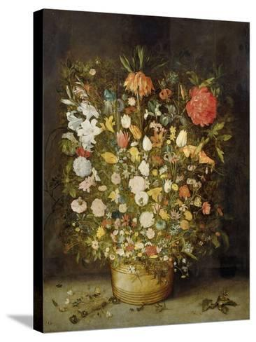Still Life with Flowers, 1600-30-Jan Brueghel-Stretched Canvas Print