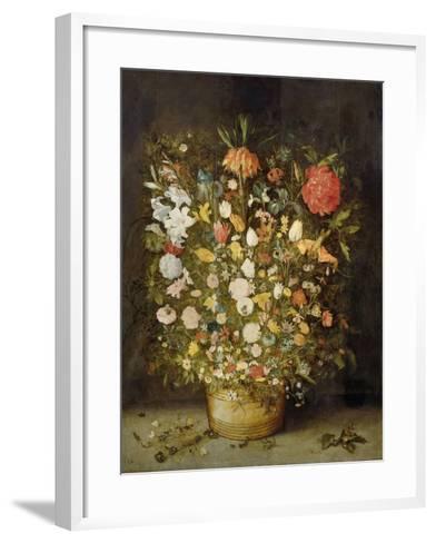 Still Life with Flowers, 1600-30-Jan Brueghel-Framed Art Print