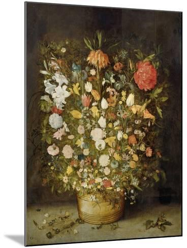 Still Life with Flowers, 1600-30-Jan Brueghel-Mounted Giclee Print