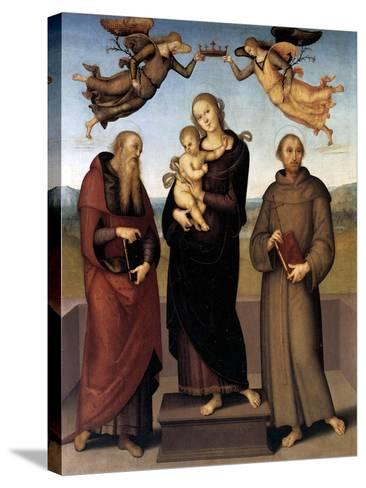 The Virgin of Loretto with Saint Jerome and Saint Francis, 1507-15-Pietro Perugino-Stretched Canvas Print