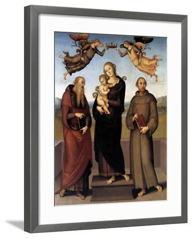 The Virgin of Loretto with Saint Jerome and Saint Francis, 1507-15-Pietro Perugino-Framed Art Print