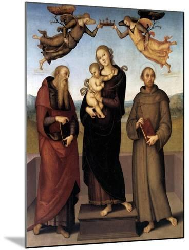 The Virgin of Loretto with Saint Jerome and Saint Francis, 1507-15-Pietro Perugino-Mounted Giclee Print