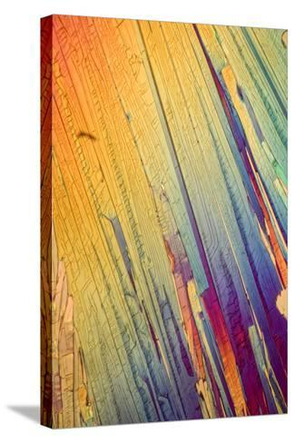 A Photomicrograph, a Picture Taken Through a Microscope, of Salicylic Acid-Cesare Naldi-Stretched Canvas Print