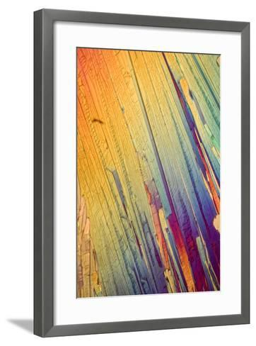 A Photomicrograph, a Picture Taken Through a Microscope, of Salicylic Acid-Cesare Naldi-Framed Art Print