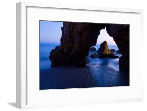 Rock Formations at El Matador State Beach-Ben Horton-Framed Art Print