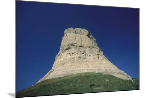 Looking Up at Jailhouse Rock Against a Blue Sky-Michael Forsberg-Mounted Photographic Print