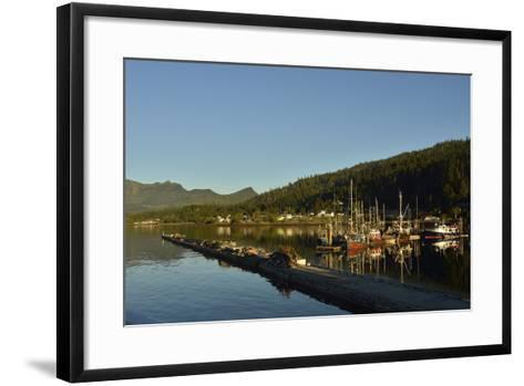 Colorful Boats Moored in the Queen Charlotte City Harbor-Jonathan Kingston-Framed Art Print