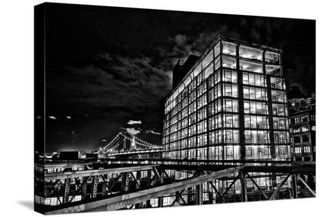 Dumbo and the Manhattan Bridge Seen from the Brooklyn Bridge-Kike Calvo-Stretched Canvas Print