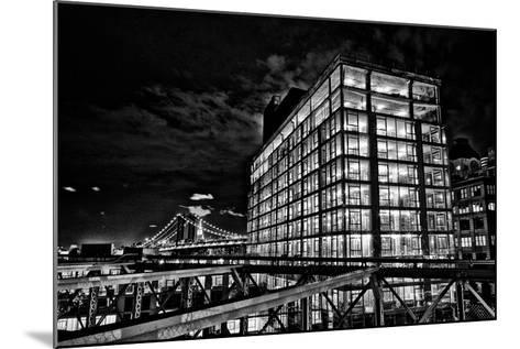Dumbo and the Manhattan Bridge Seen from the Brooklyn Bridge-Kike Calvo-Mounted Photographic Print