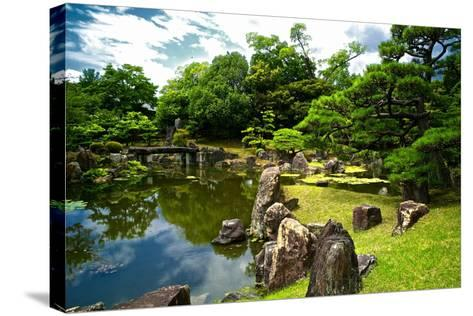 The Pond of the Ninomaru Garden-Kike Calvo-Stretched Canvas Print