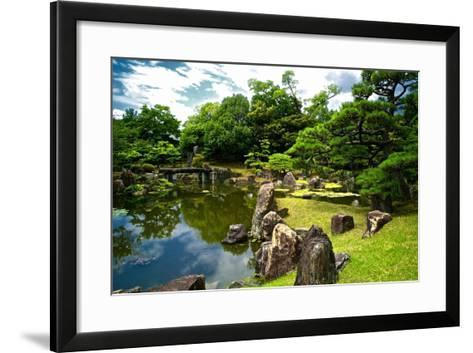 The Pond of the Ninomaru Garden-Kike Calvo-Framed Art Print