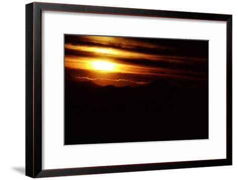 Mountain Peaks in Parque Provincial Aconcagua-Tommy Heinrich-Framed Art Print