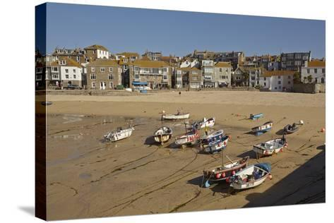 The Harbor at St Ives, in Cornwall, a Favorite English Tourist Destination-Nigel Hicks-Stretched Canvas Print