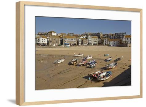 The Harbor at St Ives, in Cornwall, a Favorite English Tourist Destination-Nigel Hicks-Framed Art Print
