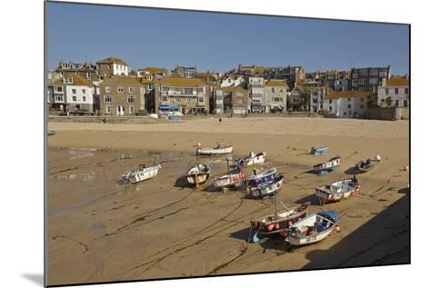 The Harbor at St Ives, in Cornwall, a Favorite English Tourist Destination-Nigel Hicks-Mounted Photographic Print