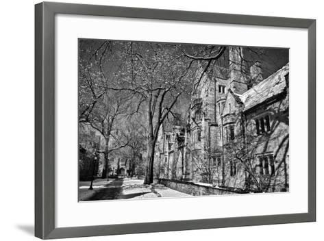 Winter Blizzard at Yale University-Kike Calvo-Framed Art Print