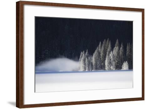 A Low-Lying Mist Hovers over a Snowy Landscape-Robbie George-Framed Art Print