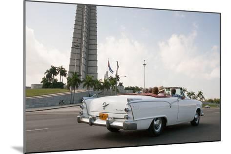 Classic American Car by Jose Marti Memorial, Plaza De La Revolucion, Revolution Square, Havana-Eric Kruszewski-Mounted Photographic Print