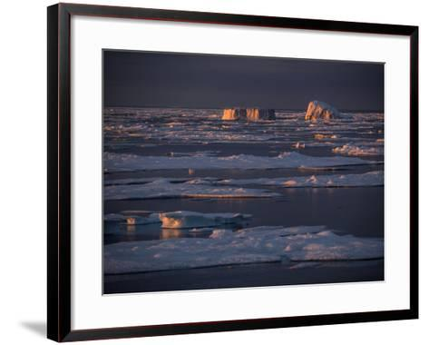 Icebergs Late Afternoon Sunlight-Jay Dickman-Framed Art Print