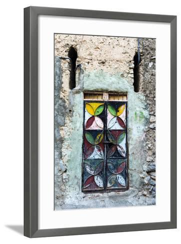 A Painted and Decorated Steel Door in an Ancient Mud Brick Village-Jason Edwards-Framed Art Print