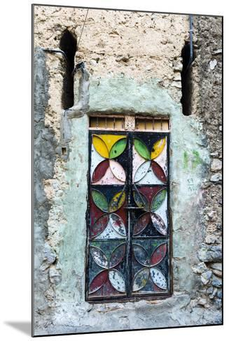 A Painted and Decorated Steel Door in an Ancient Mud Brick Village-Jason Edwards-Mounted Photographic Print