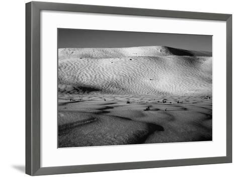 Wind-Driven Patterns in a Snowy Landscape-Robbie George-Framed Art Print