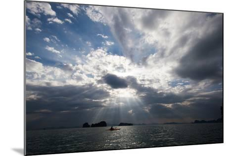 Andaman Sea: A Kayaker in the Andaman Sea under Rays of Light-Ben Horton-Mounted Photographic Print